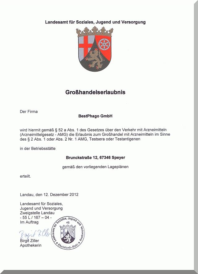 Großhandelserlaubnis-BestPhago-Speyer